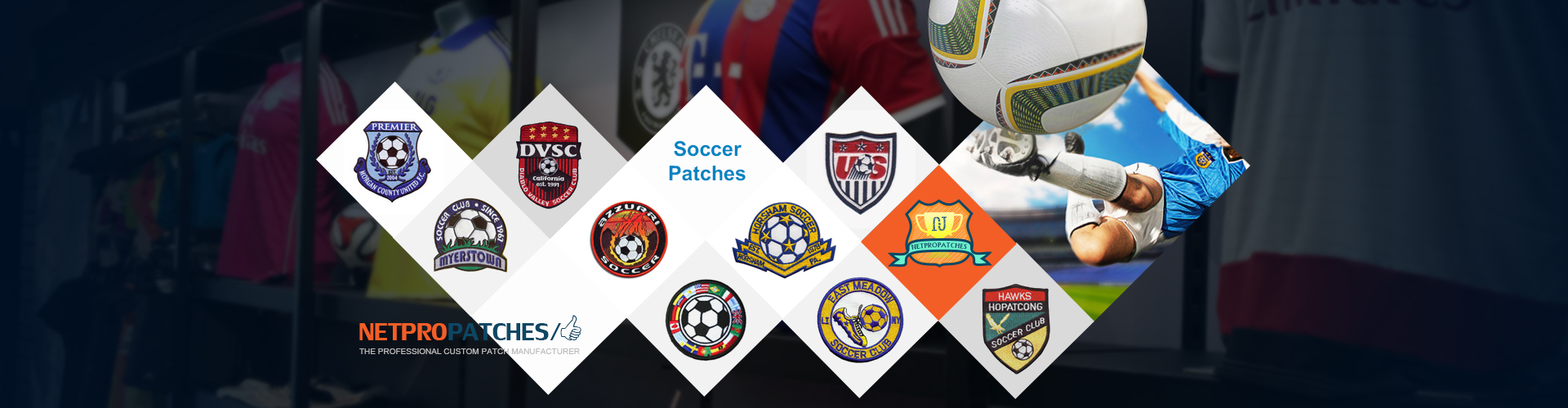 Soccer Patches for your Team or Tournament Patches-on-Sale